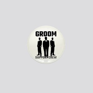 Groom Support Crew Mini Button
